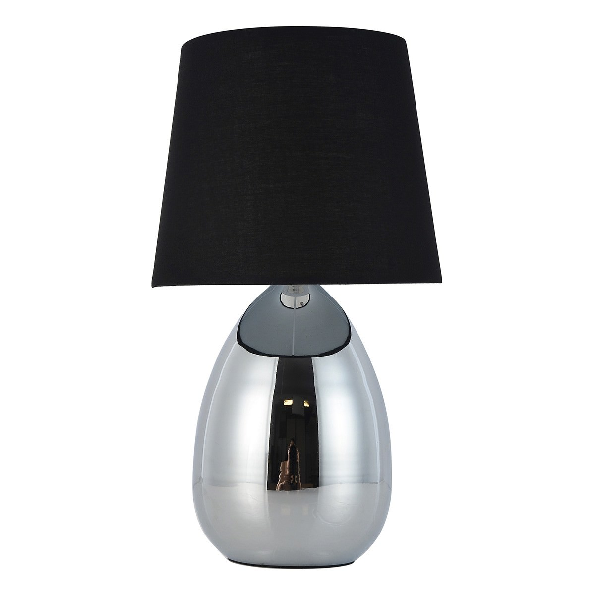 Libby Metal Base Touch Table Lamp, Black / Chrome