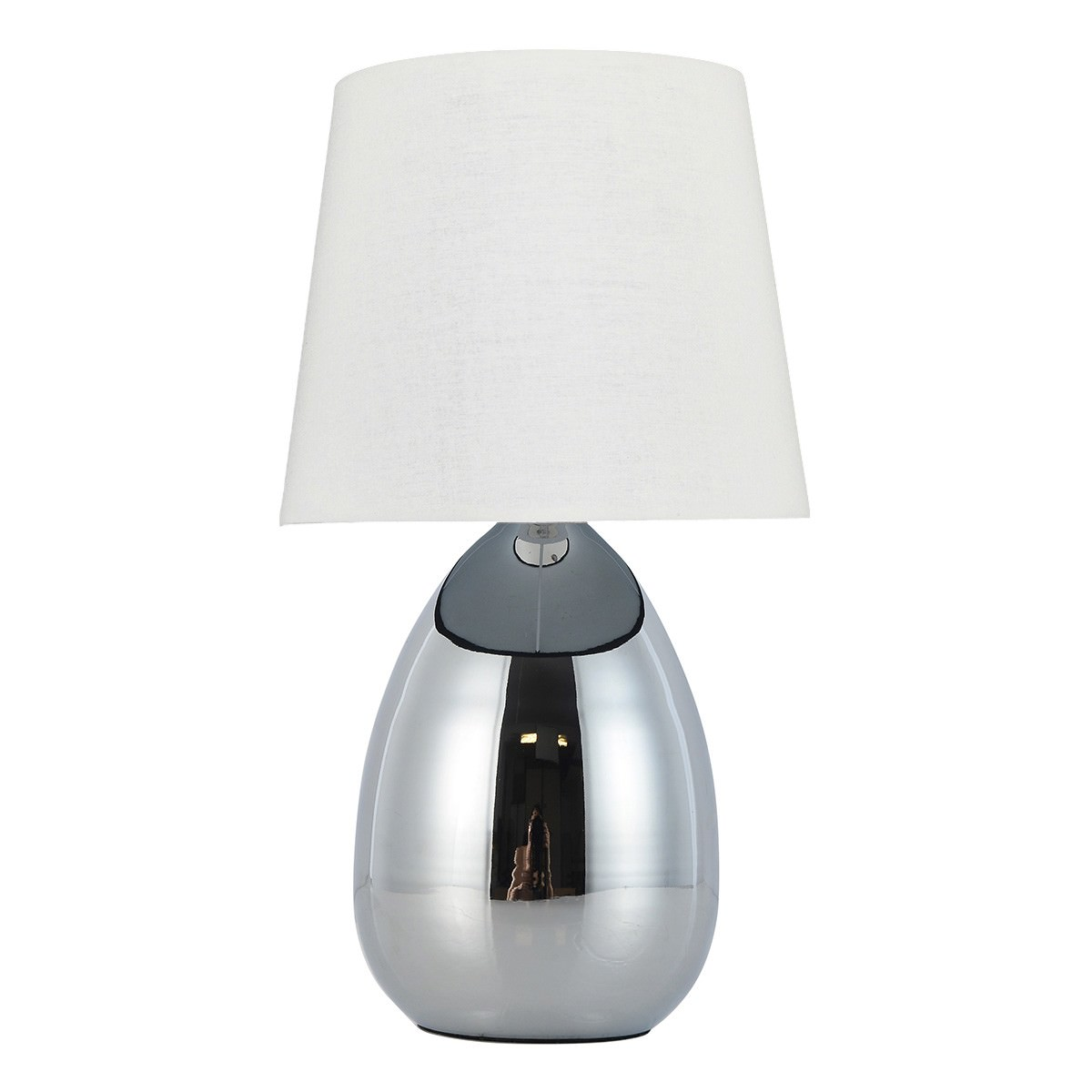 Libby Metal Base Touch Table Lamp, White / Chrome