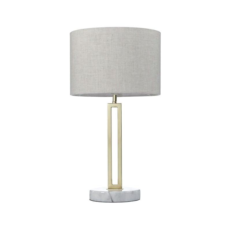 Margleus Metal & Marble Base Table Lamp