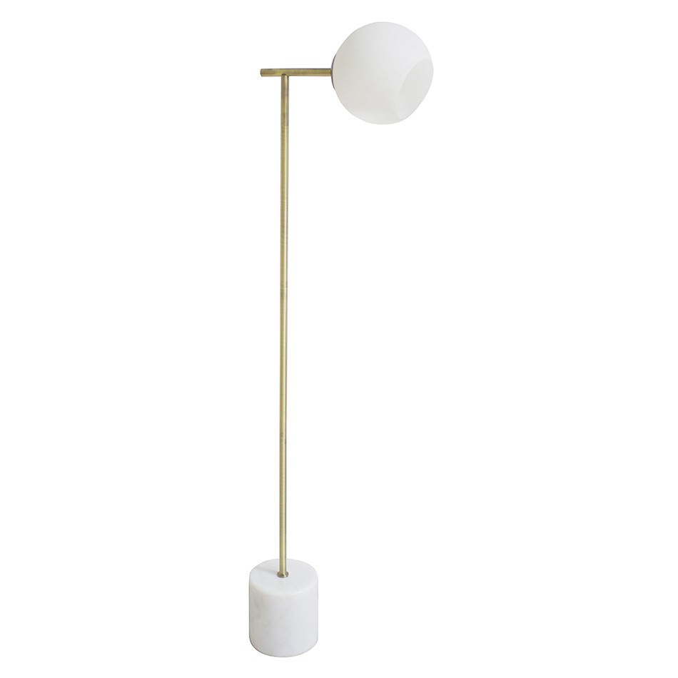 Helium Marble & Metal Floor Lamp