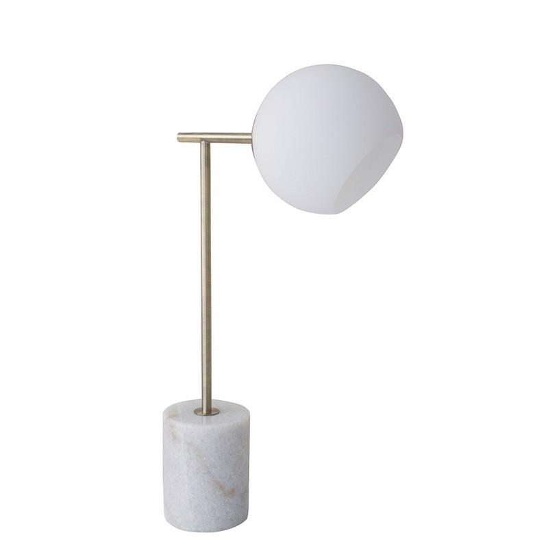 Helium Marble & Metal Table Lamp