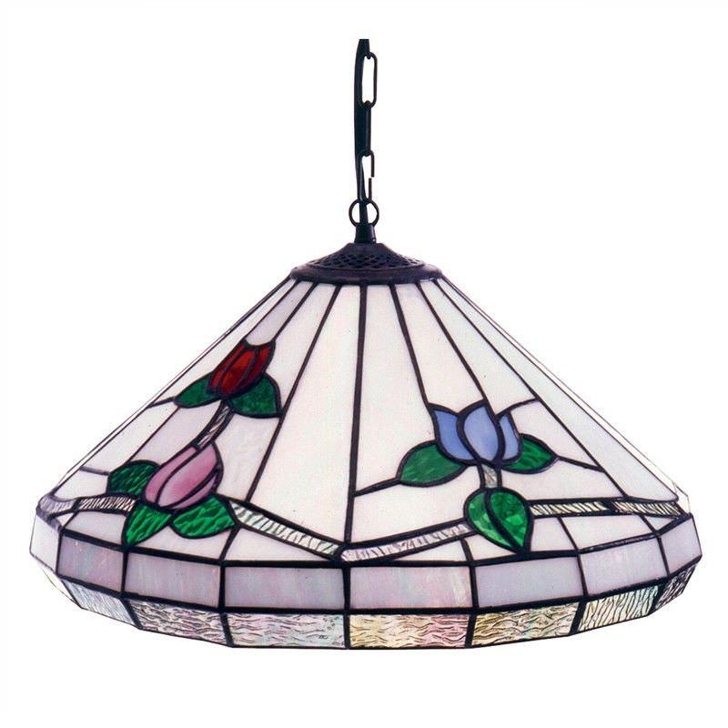 Edison Bulbous Tuplips Glass Lead Ceiling Light - 45cm Shade