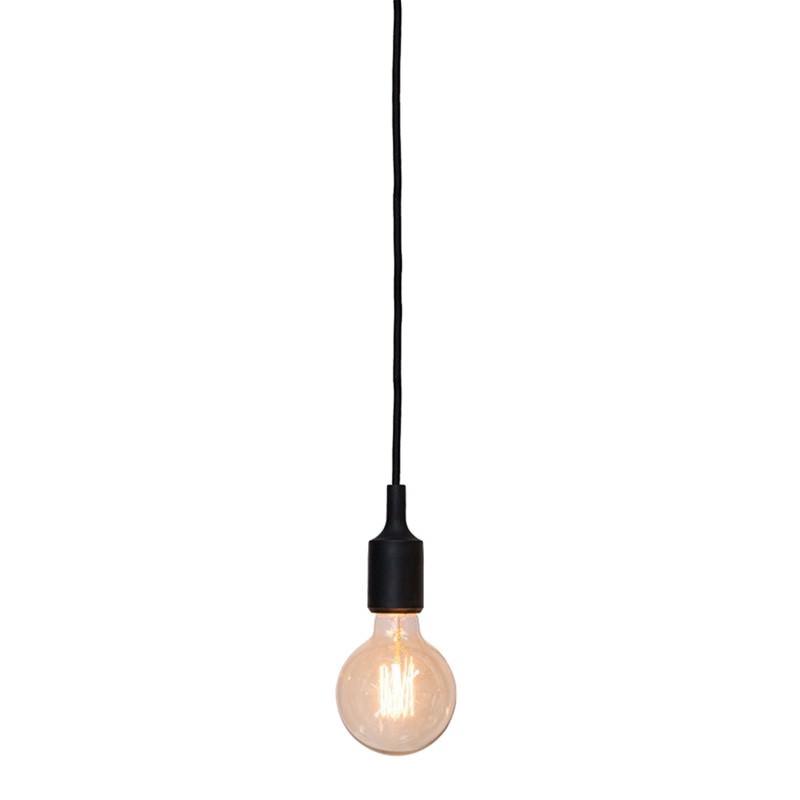Polly Silicone Pendant Light, Black