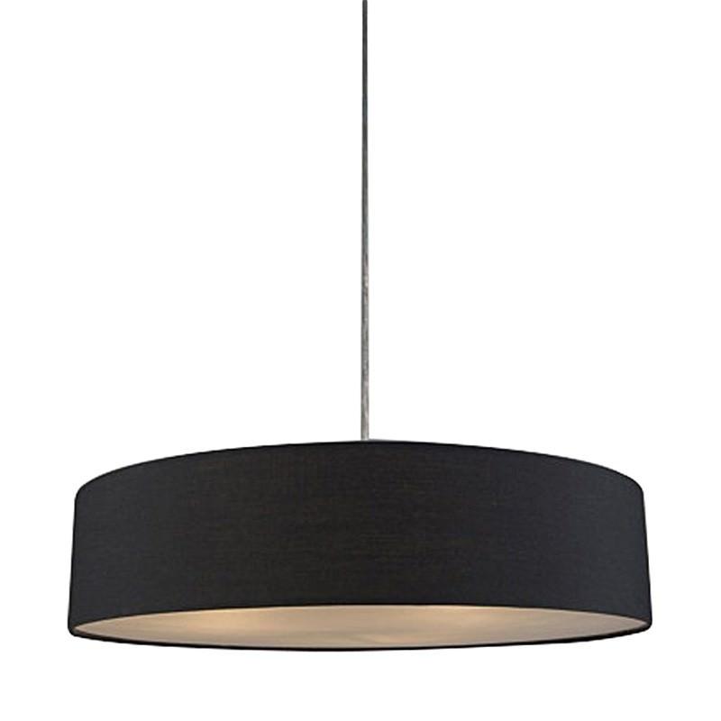 Mara Fabric Drum Pendant Light, Black