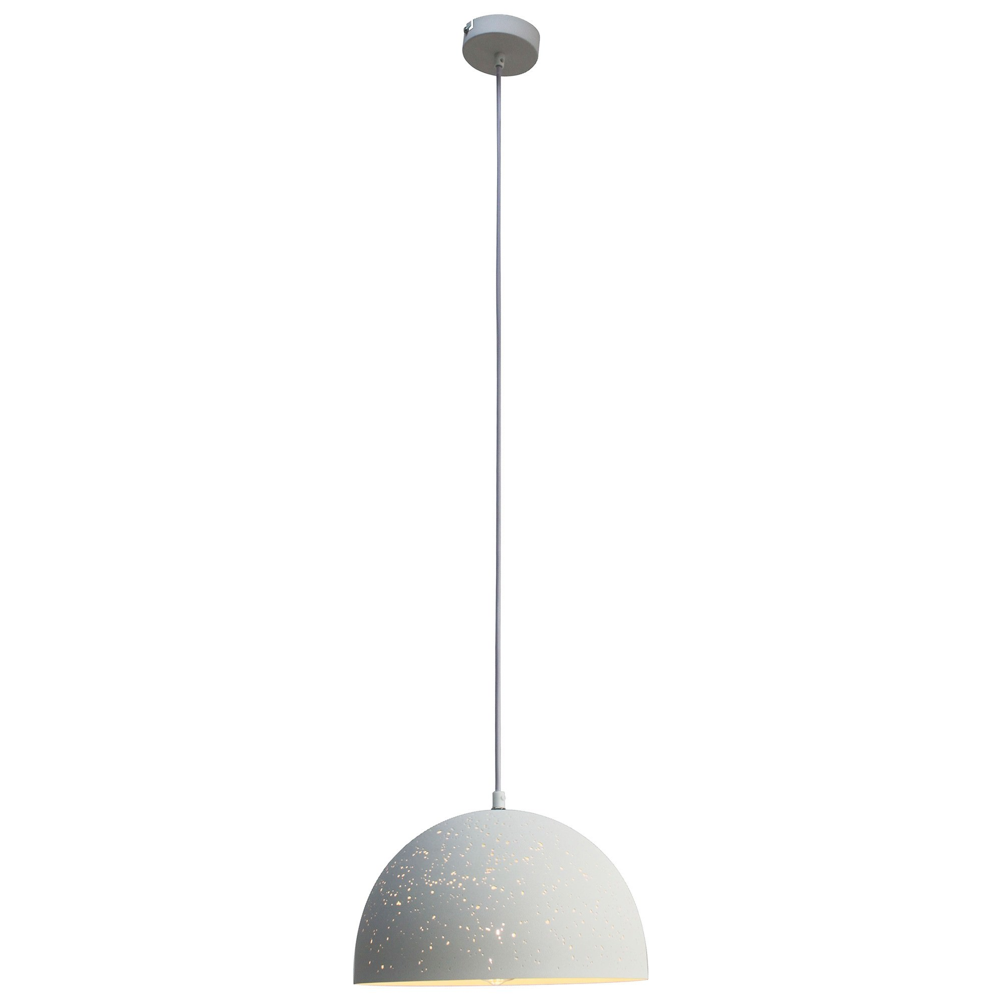 Bardem Metal Pendant Light, 30cm, White
