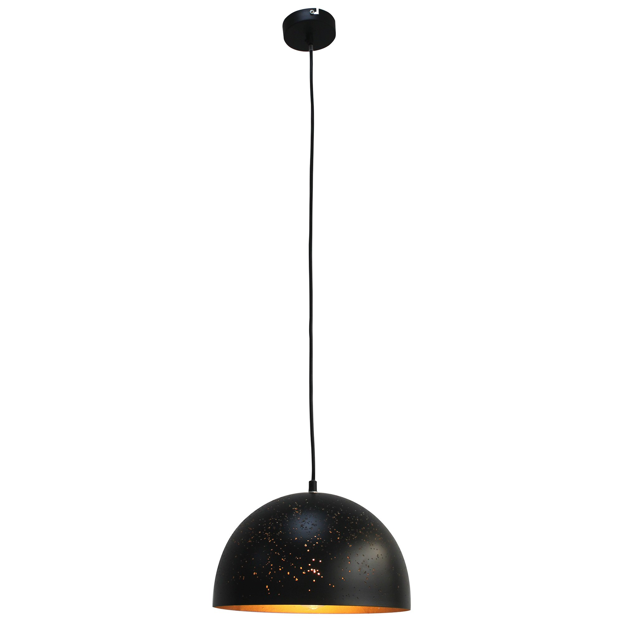 Bardem Metal Pendant Light, 40cm, Black