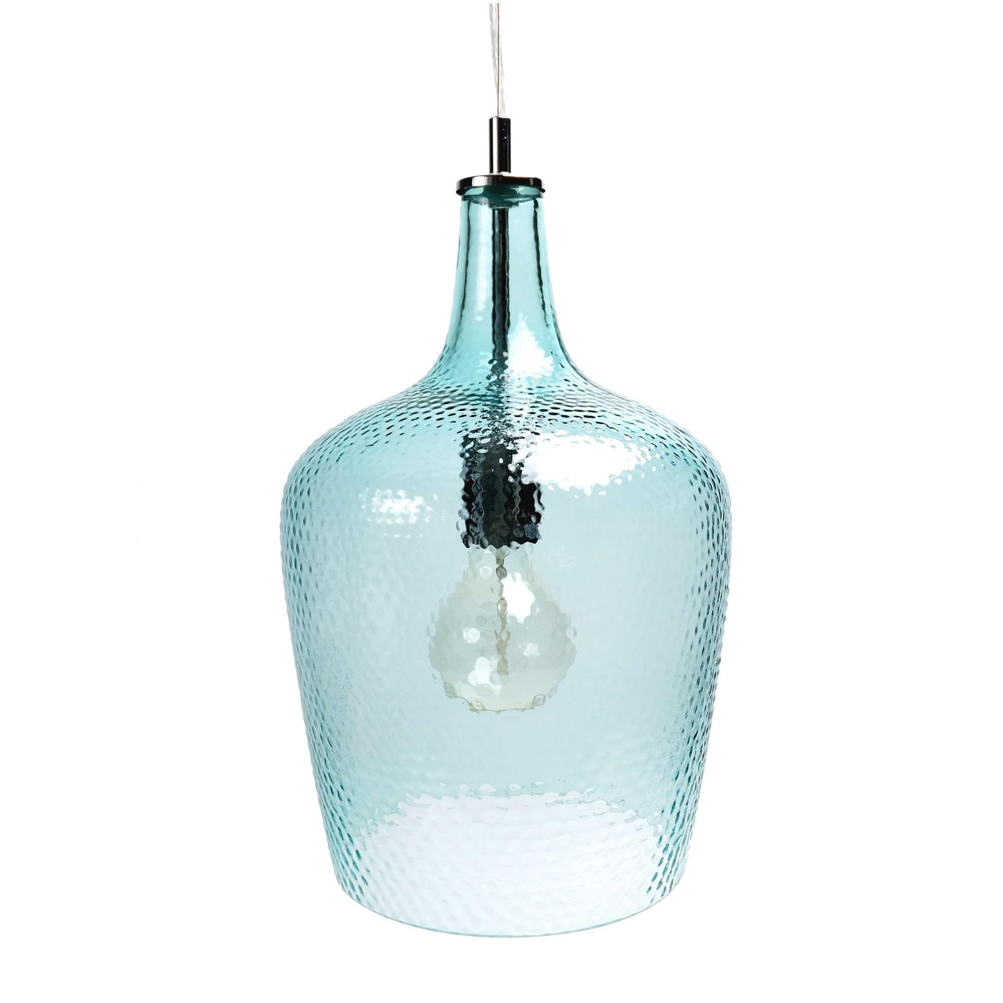 Marsha glass pendant light blue