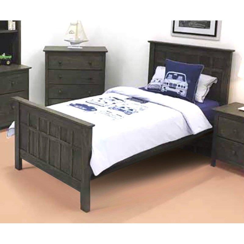 Logan Wooden Bed, Single