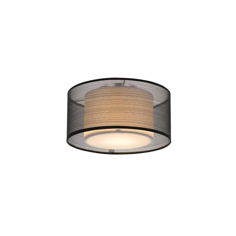 Loria Fabirc Batten Fix Ceiling Light, Small, Black