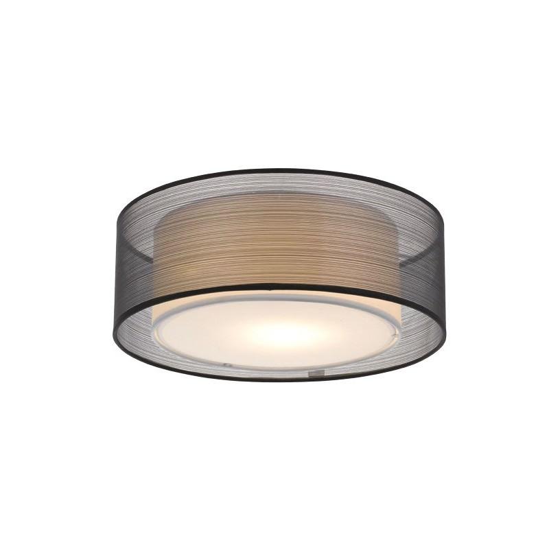 Loria Fabirc Batten Fix Ceiling Light, Large, Black