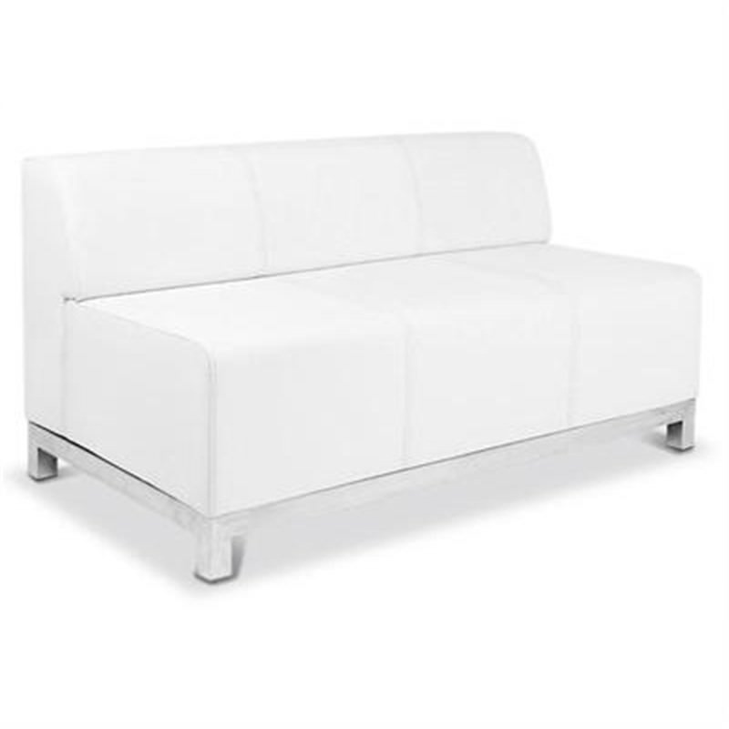 Orlando Lounge - 2.5 Seater in White Commercial Grade