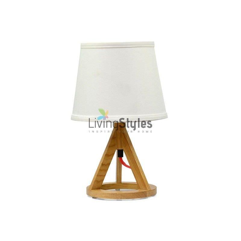 Paris Solid Ash Wood Timber Table Lamp