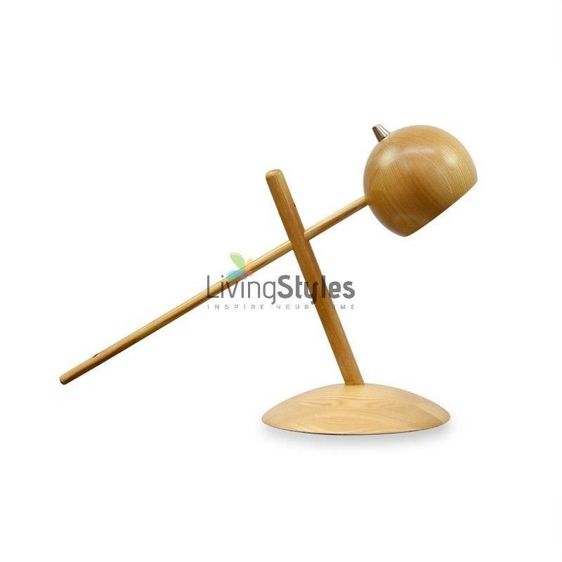 Phoenix Solid Ash Wood Timber Table Lamp