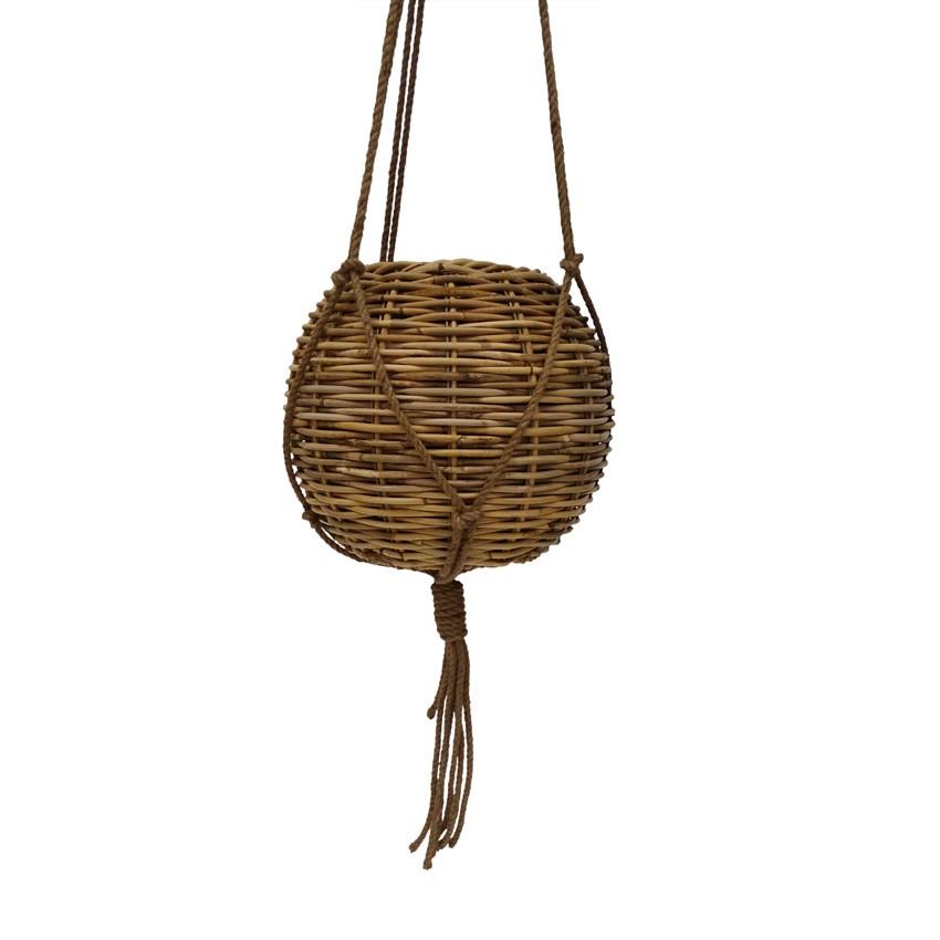 Wonga Rattan Hanging Basket Pot