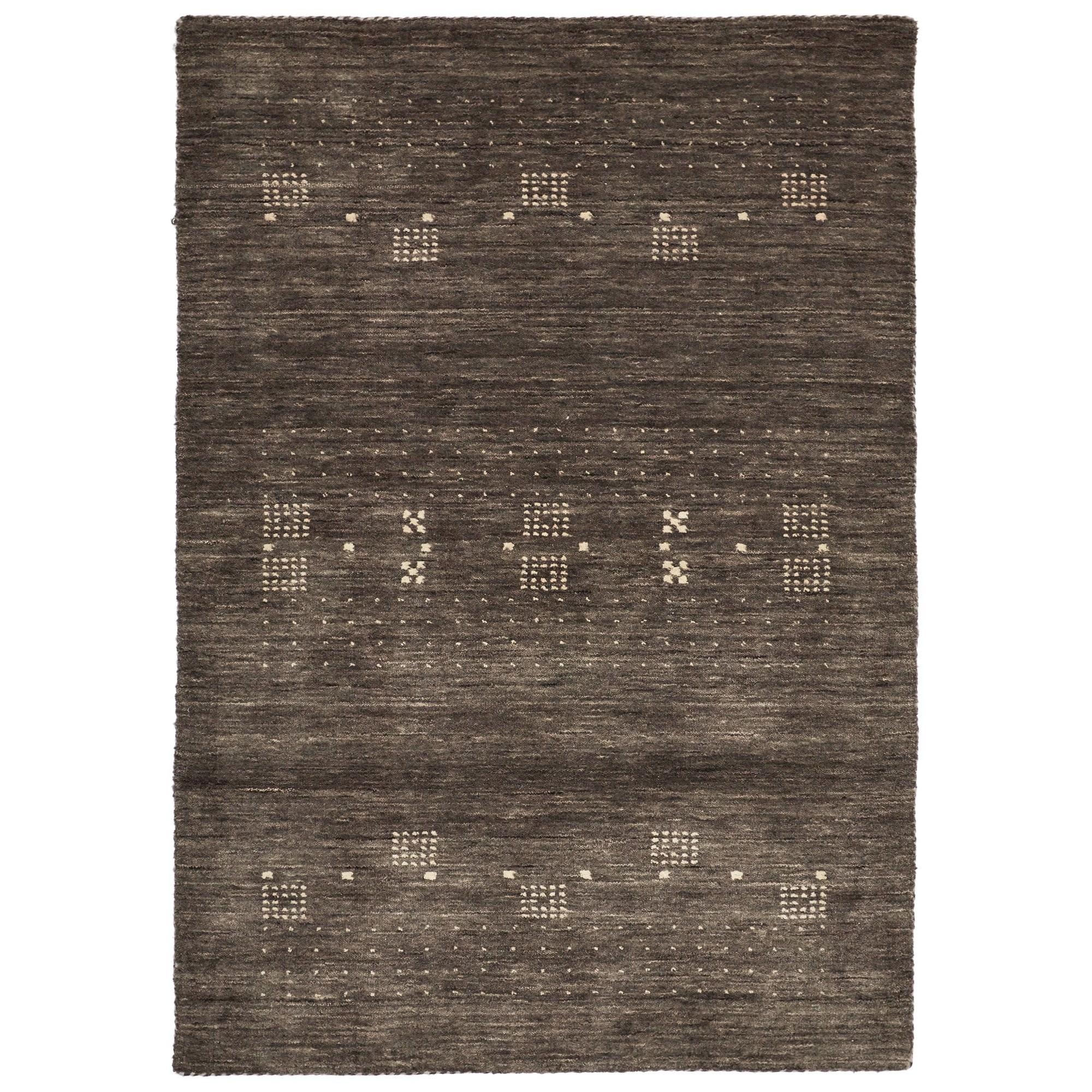 Lori No.042 Wool Tribal Rug, 225x155cm, Grey