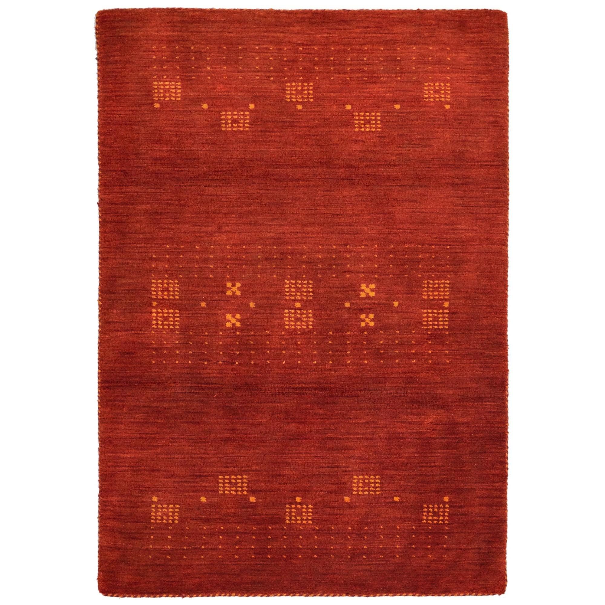 Lori No.042 Wool Tribal Rug, 225x155cm, Rust