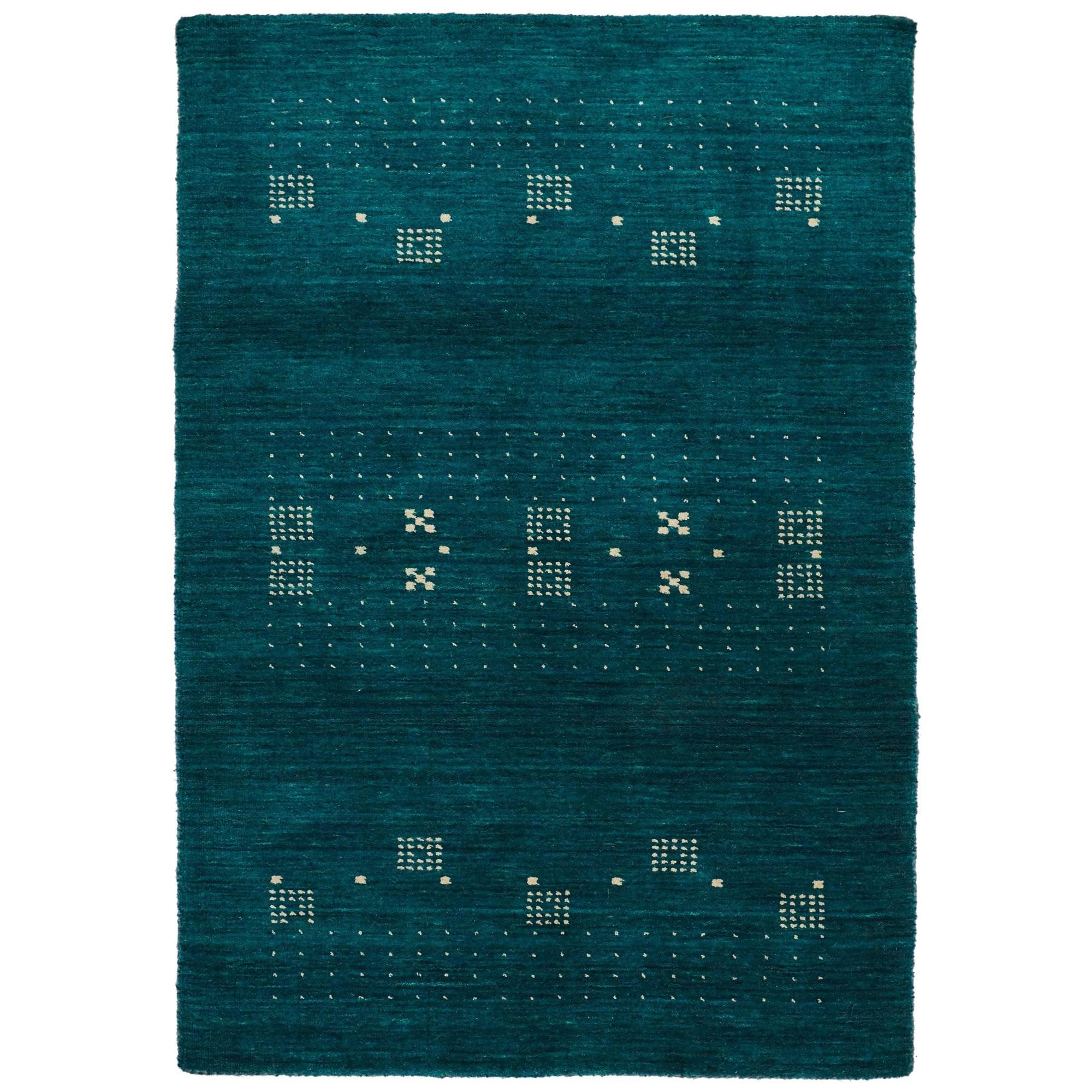 Lori No.042 Wool Tribal Rug, 130x70cm, Turquoise