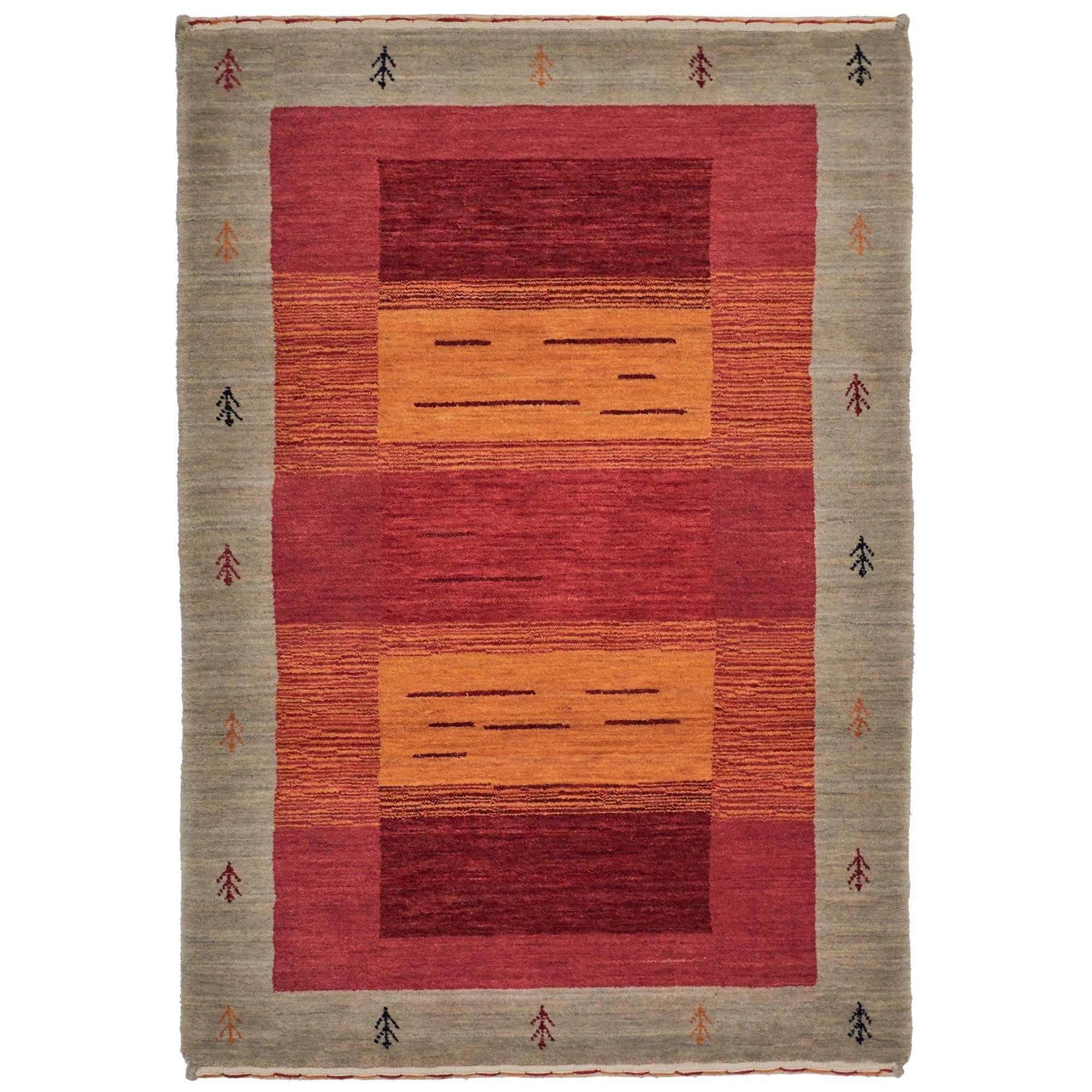 Lori No.202 Wool Tribal Rug, 225x155cm, Red / Brown
