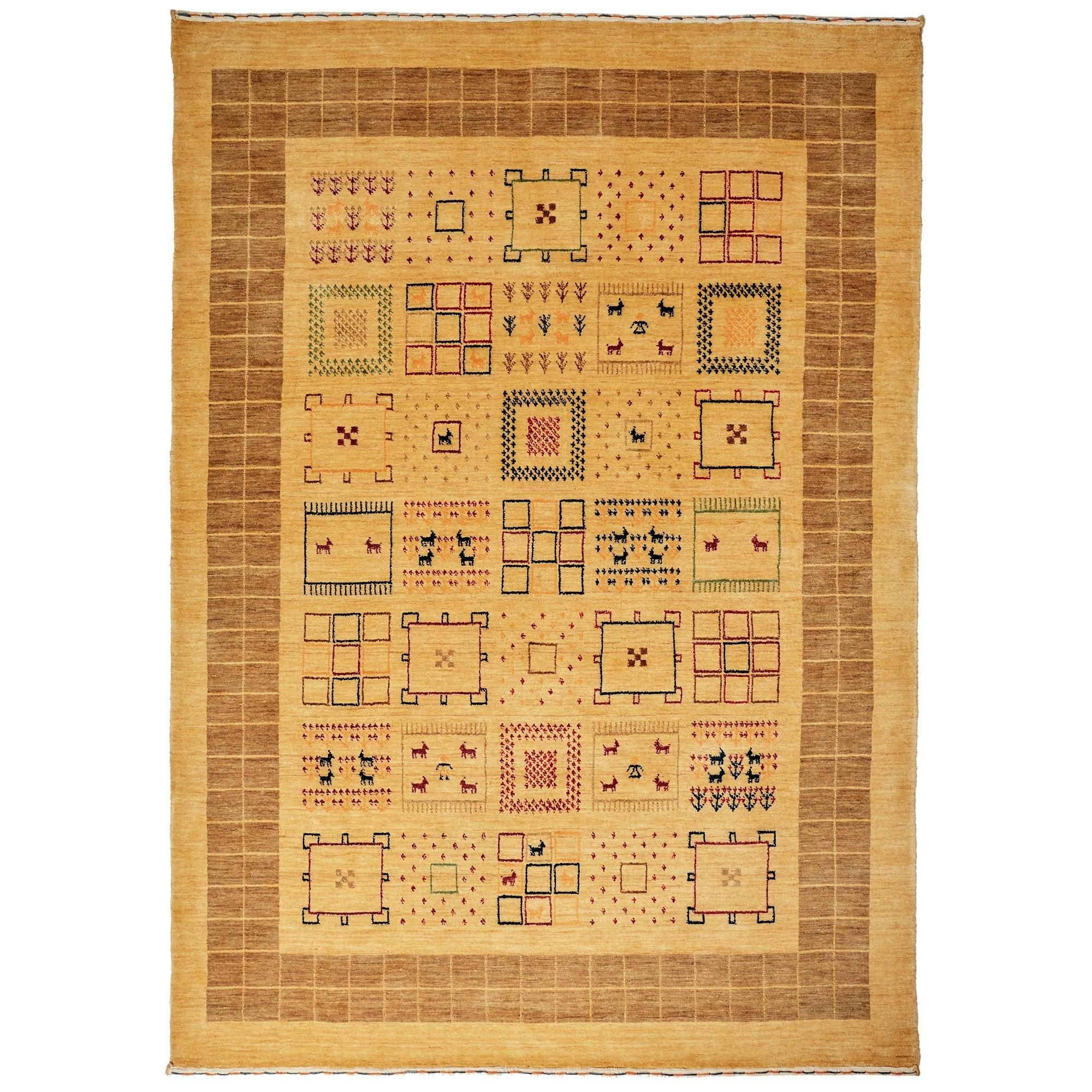 Lori No.204 Wool Tribal Rug, 225x155cm, Camel