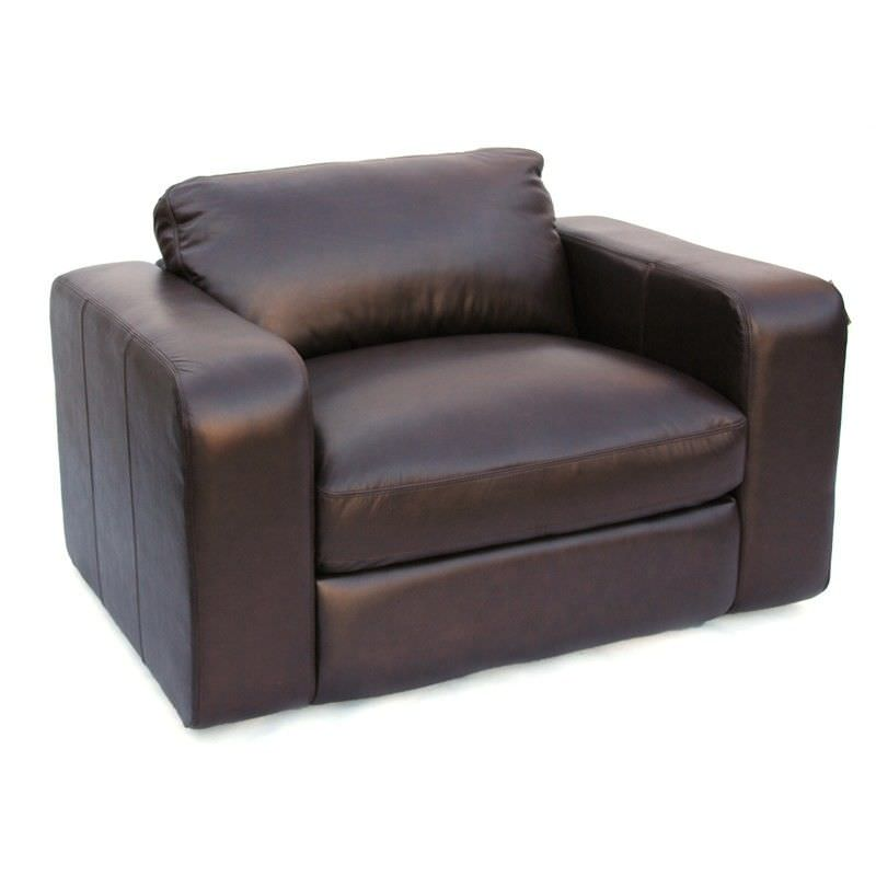 Johnson Genuine Leather Armchair, Brown