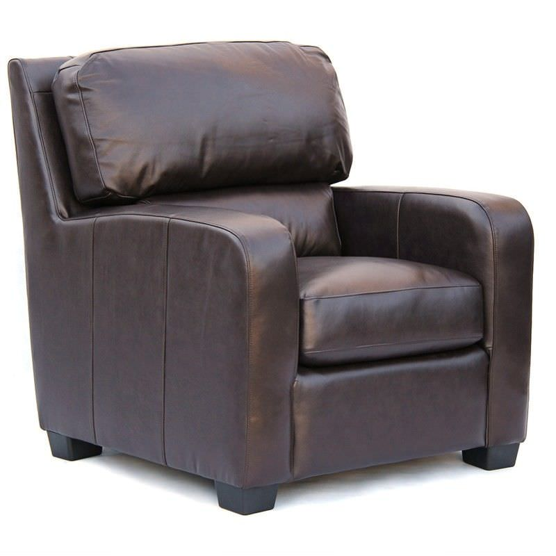 Malley Genuine Leather Armchair, Brown