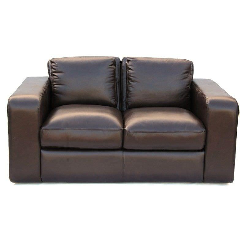 Johnson Genuine Leather 2 Seater Sofa,  Brown