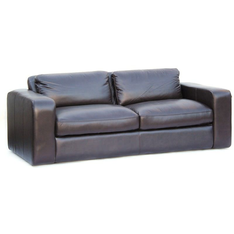 Johnson Genuine Leather 3 Seater Sofa, Brown
