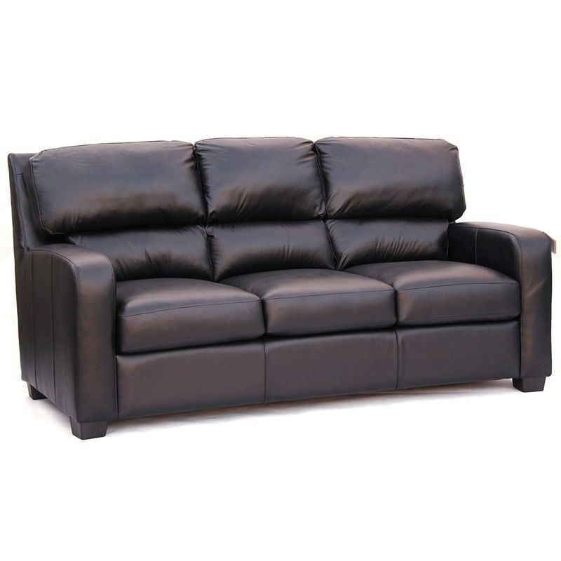 Malley Genuine Leather 3 Seater Sofa, Brown