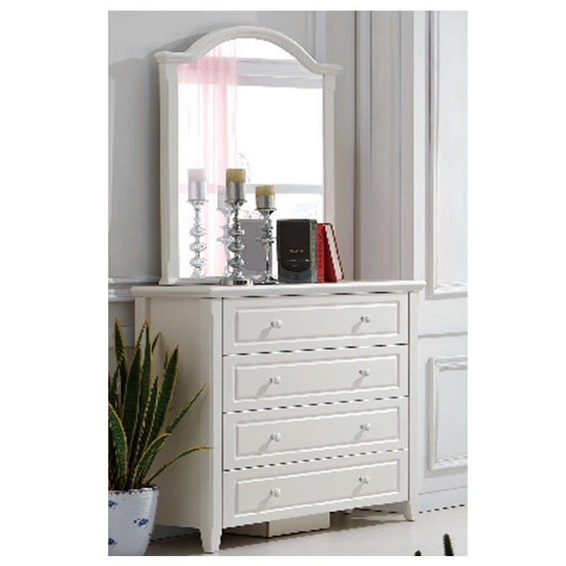 Belly 4 Drawer Dressing Table with Mirror