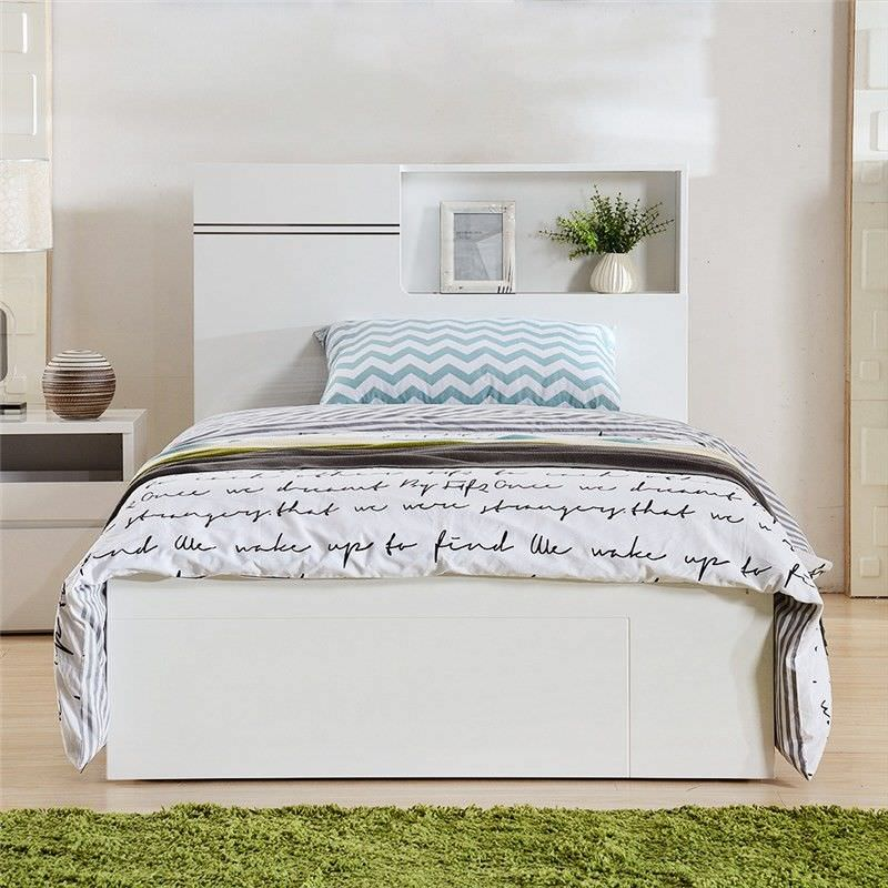 Elaine Single Bed with Gaslift Storage and End Drawer