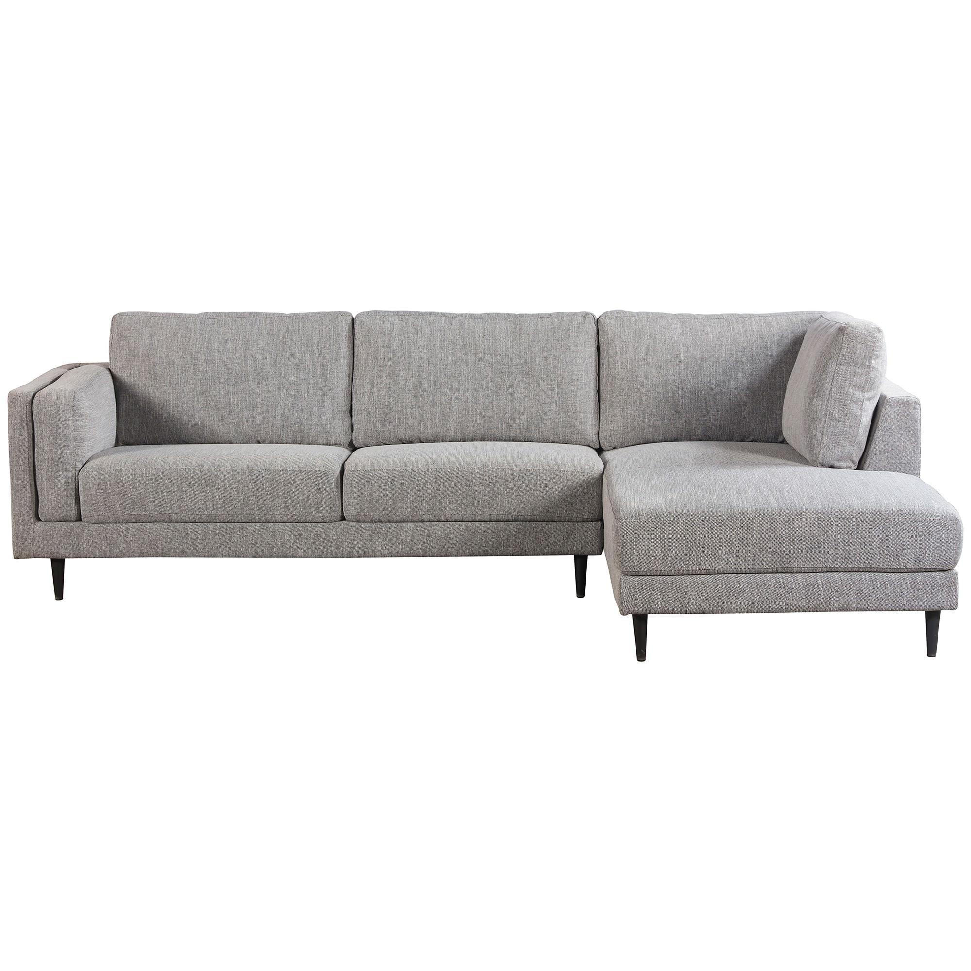 Almsele Fabric Corner Sofa, 2 Seater with RHF Chaise