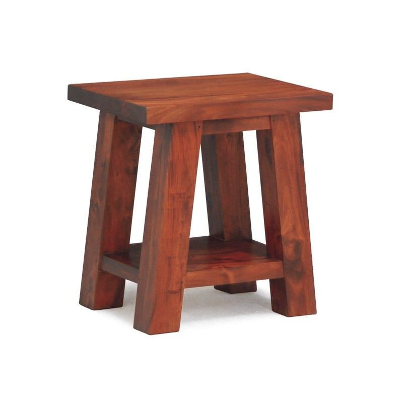 Showa Solid Mahogany Timber Lamp Table,  Mahogany