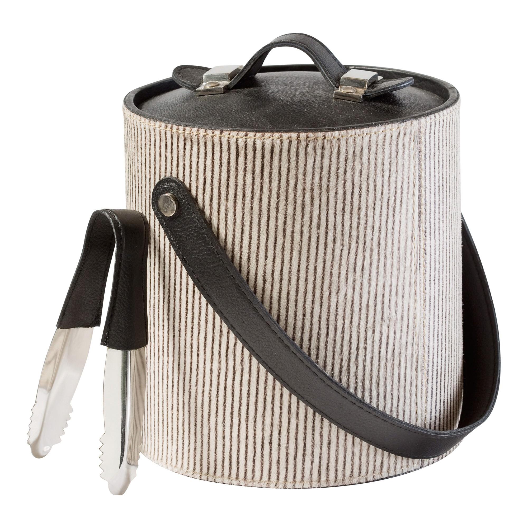 Meridian Hide Leather Ice Bucket