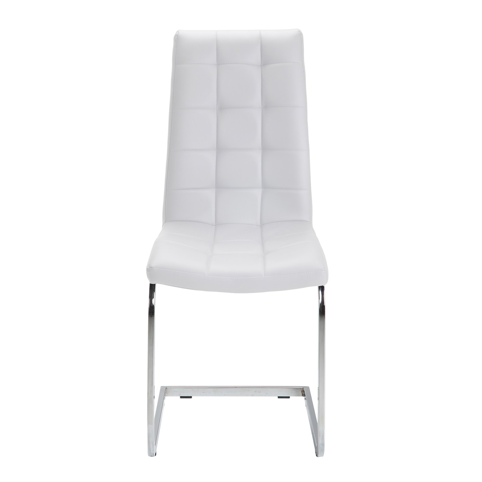 Cresswell Faux Leather Dining Chair, White