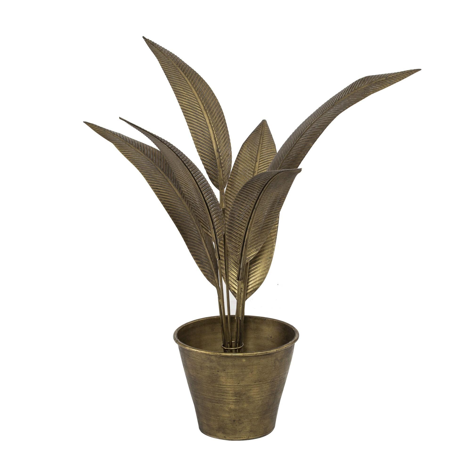 Roy Metal Leaf Plant
