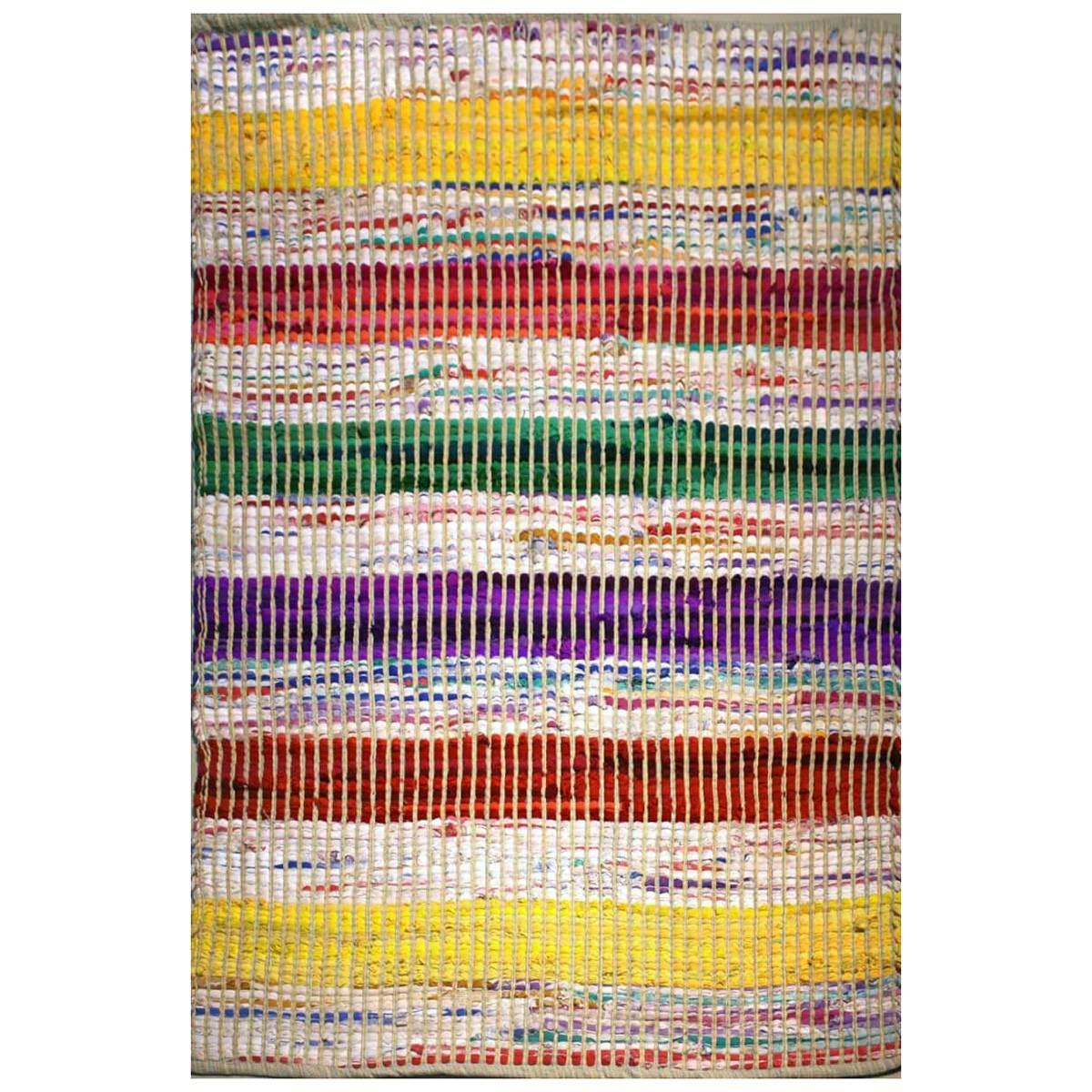 Lulu Recycled Fabric Chindi Rug, 130x70cm