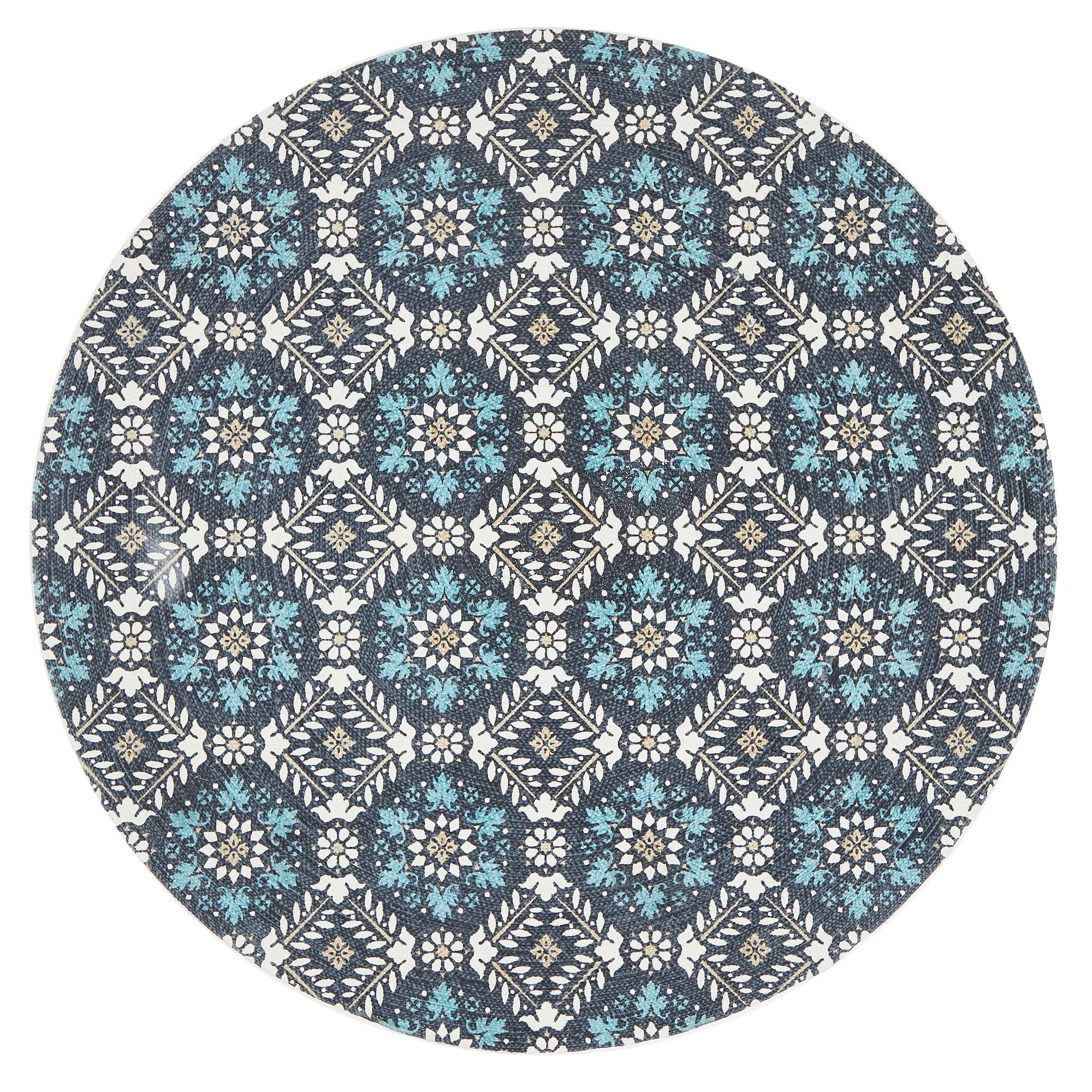 Lunar Eugenie Printed Cotton Round Rug, 120cm