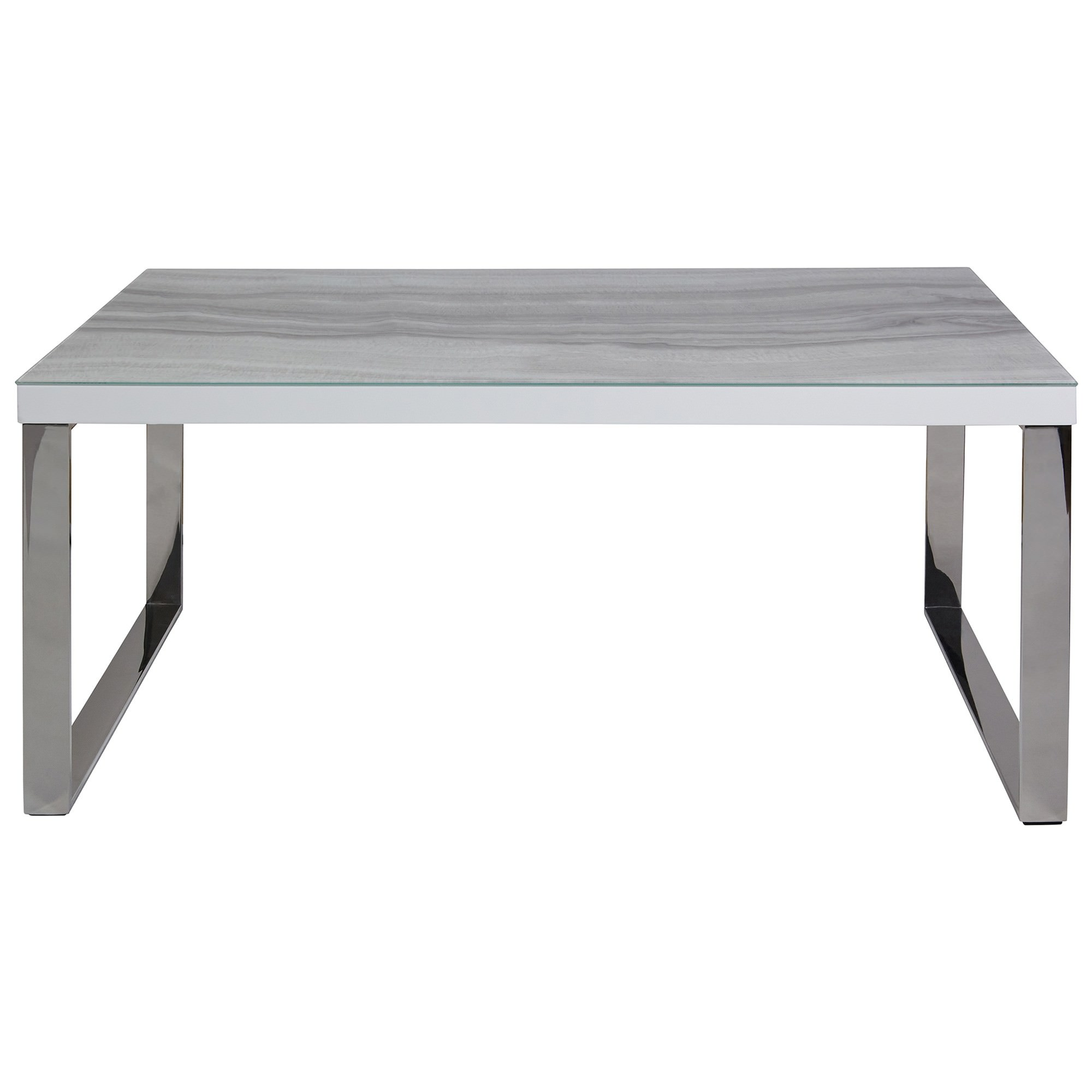 Luna Tempered Glass Topped Coffee Table, 110cm