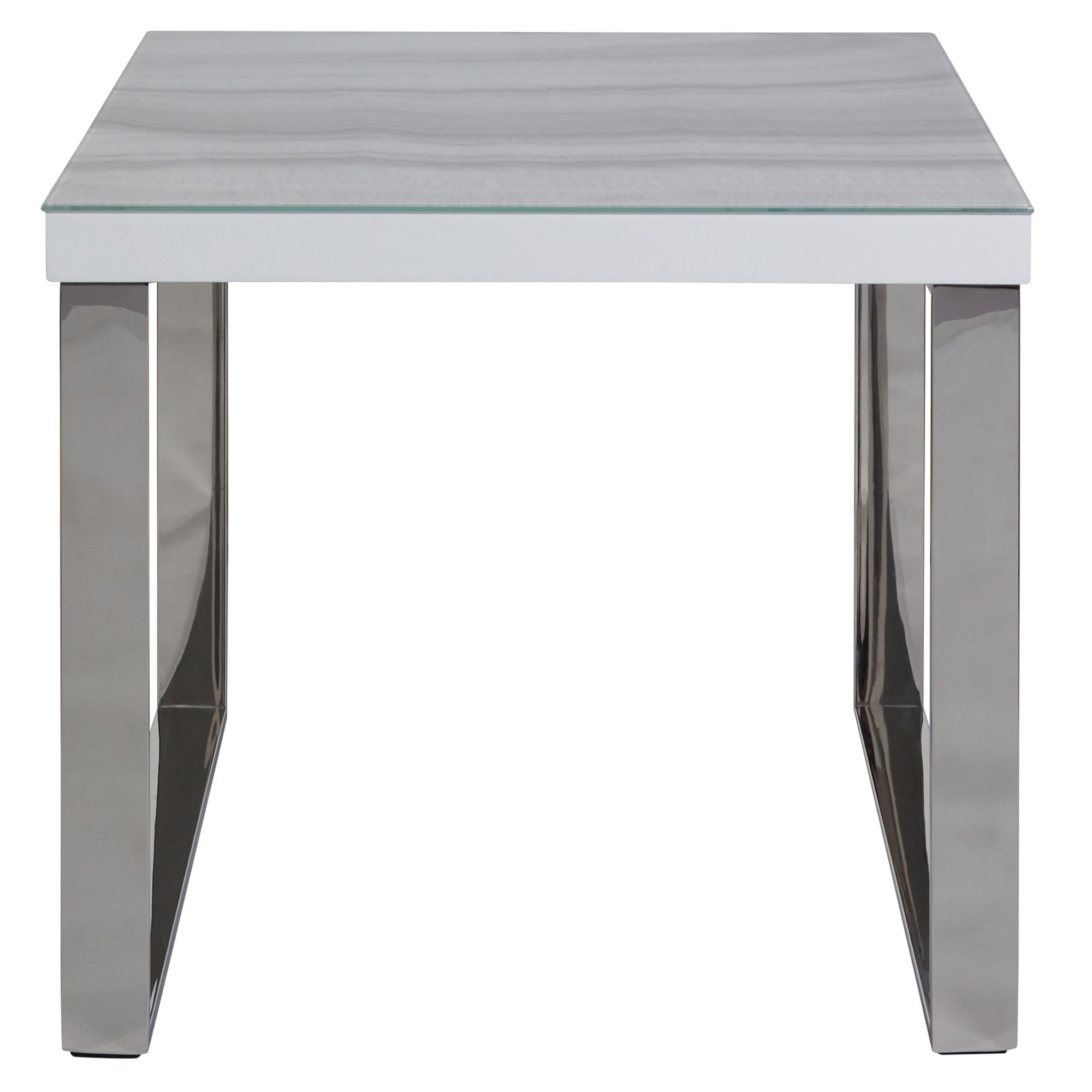 Luna Tempered Glass Topped Side Table