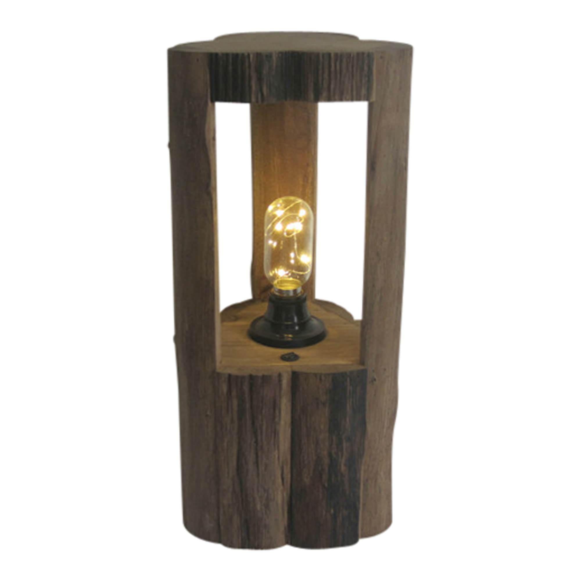 Haynes Oak Timber Table Lamp, Medium