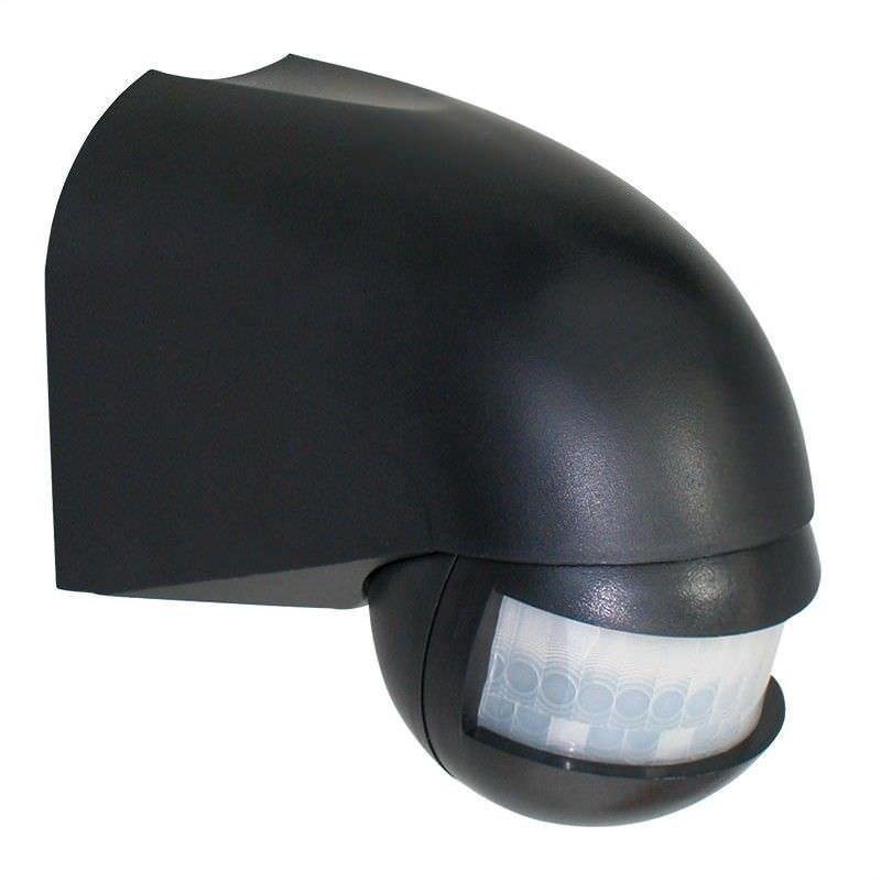 Wall Mounted 180 Degree Lightwatch Motion Sensor - Black (Oriel Lighting)