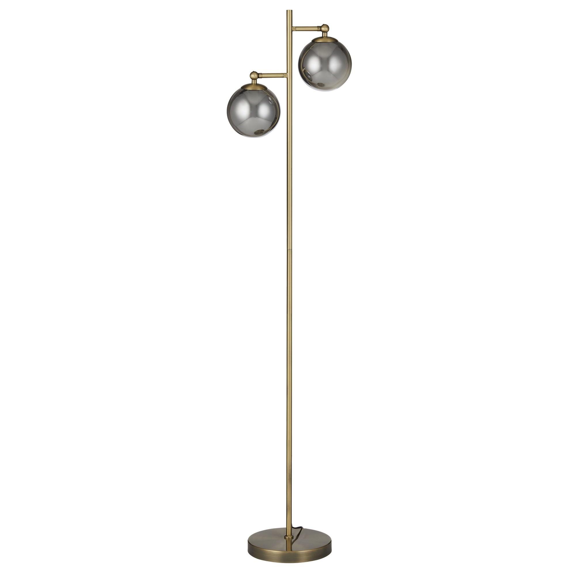 Milton Metal & Glass Floor Lamp