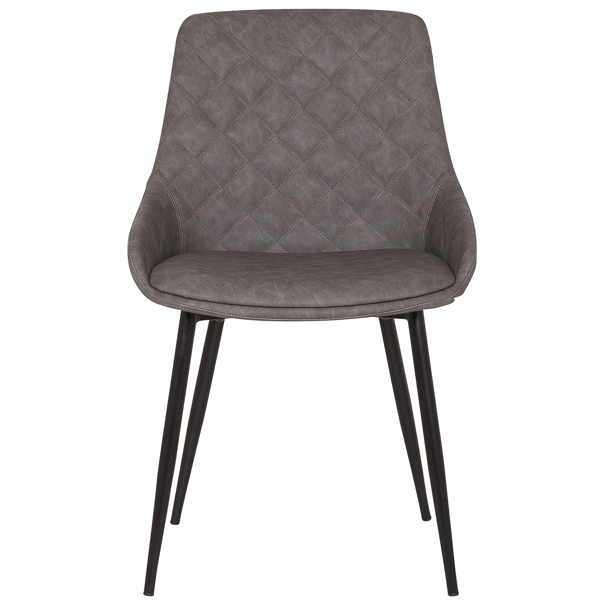Lago Commercial Grade Faux Leather Dining Chair, Grey