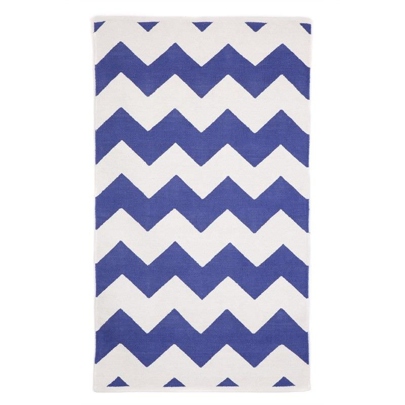 Laguna Indigo Blue Small Cotton Rug - 60x90cm