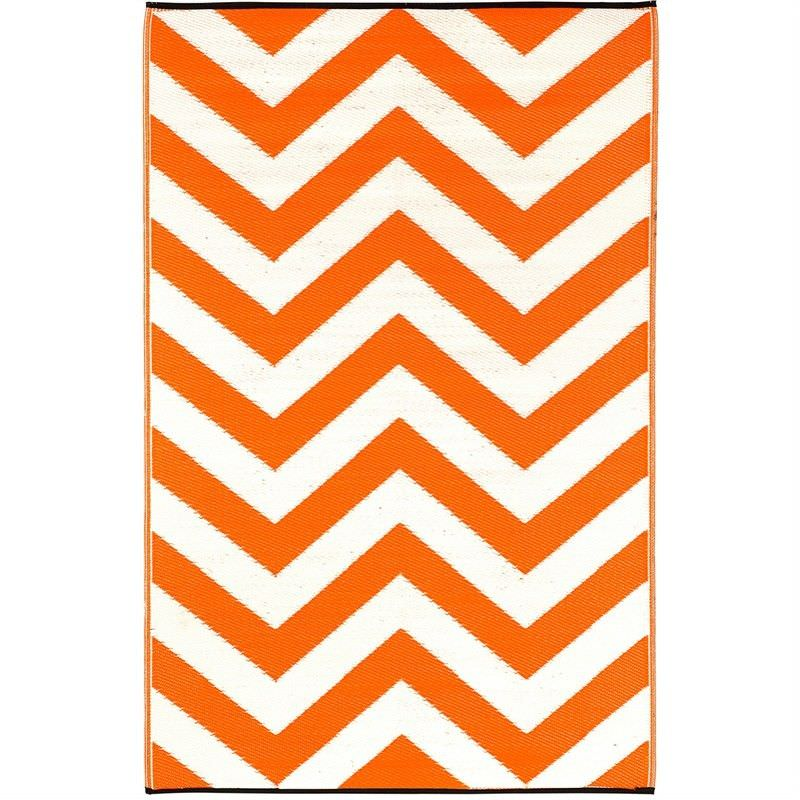 Laguna Orange Peel and White Outdoor Rug - 120x179cm