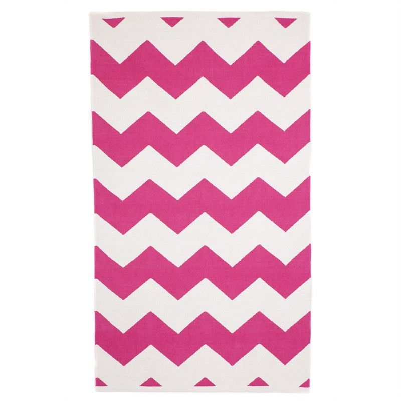 Laguna Hot Pink Small Cotton Rug - 60x90cm