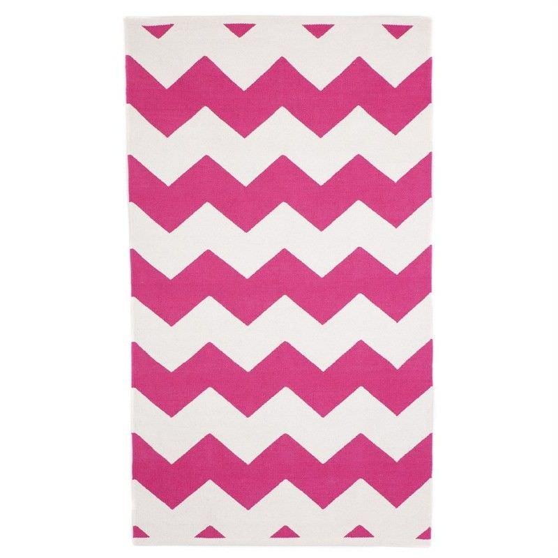 Laguna Cotton Rug in Pink - 150x240cm
