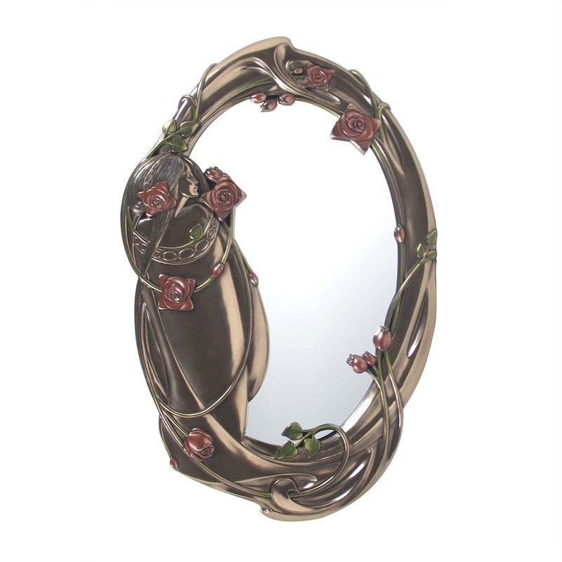 Cast Bronze Mackintosh Oval Wall Mirror
