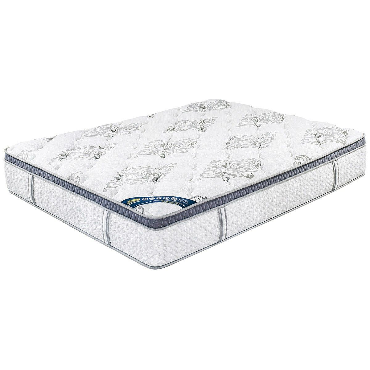 Oasby Medium Firm Pocket Spring Mattress with Memory Foam Pillow Top, Queen