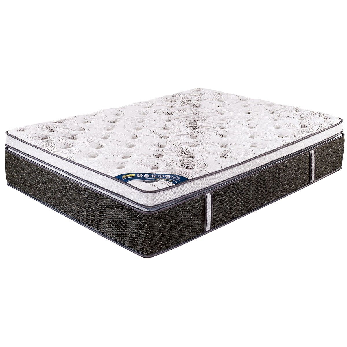 Evedon Medium Firm Pocket Spring Mattress with Memory Foam Pillow Top, King